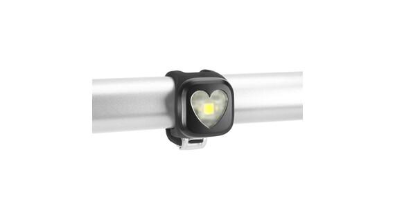 Knog Blinder Faretto 1 LED bianco cuori nero